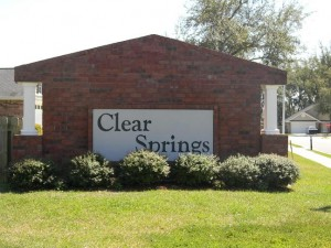 Clear Springs Sign
