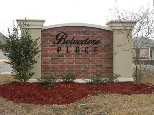 Belvedere Place Gulfport MS sign