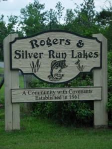 Silver Run & Rogers lake sign