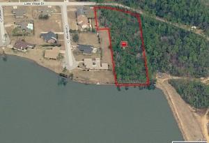 Lake Village Estates Gulfport MS Lot Aerial